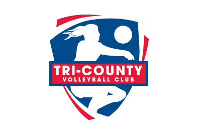 Tri County Volleyball Club Logo Design Bauerhaus Design Inc