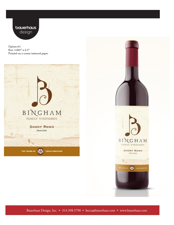 Wine label design for Texas winery