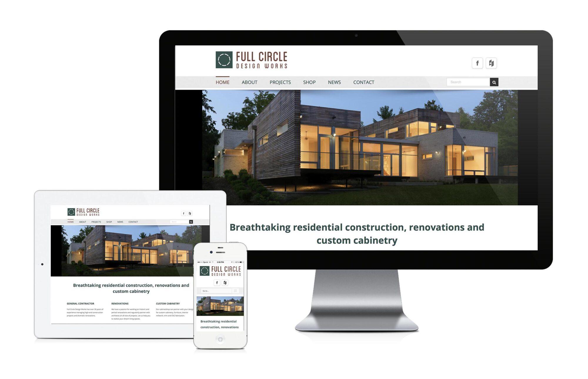 Full Circle Design custom website design and development - Bauerhaus