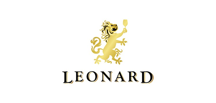 Leonard wine logo design