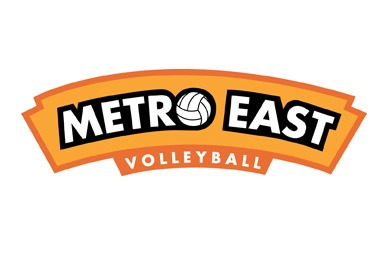 Metro East Volleyball logo design