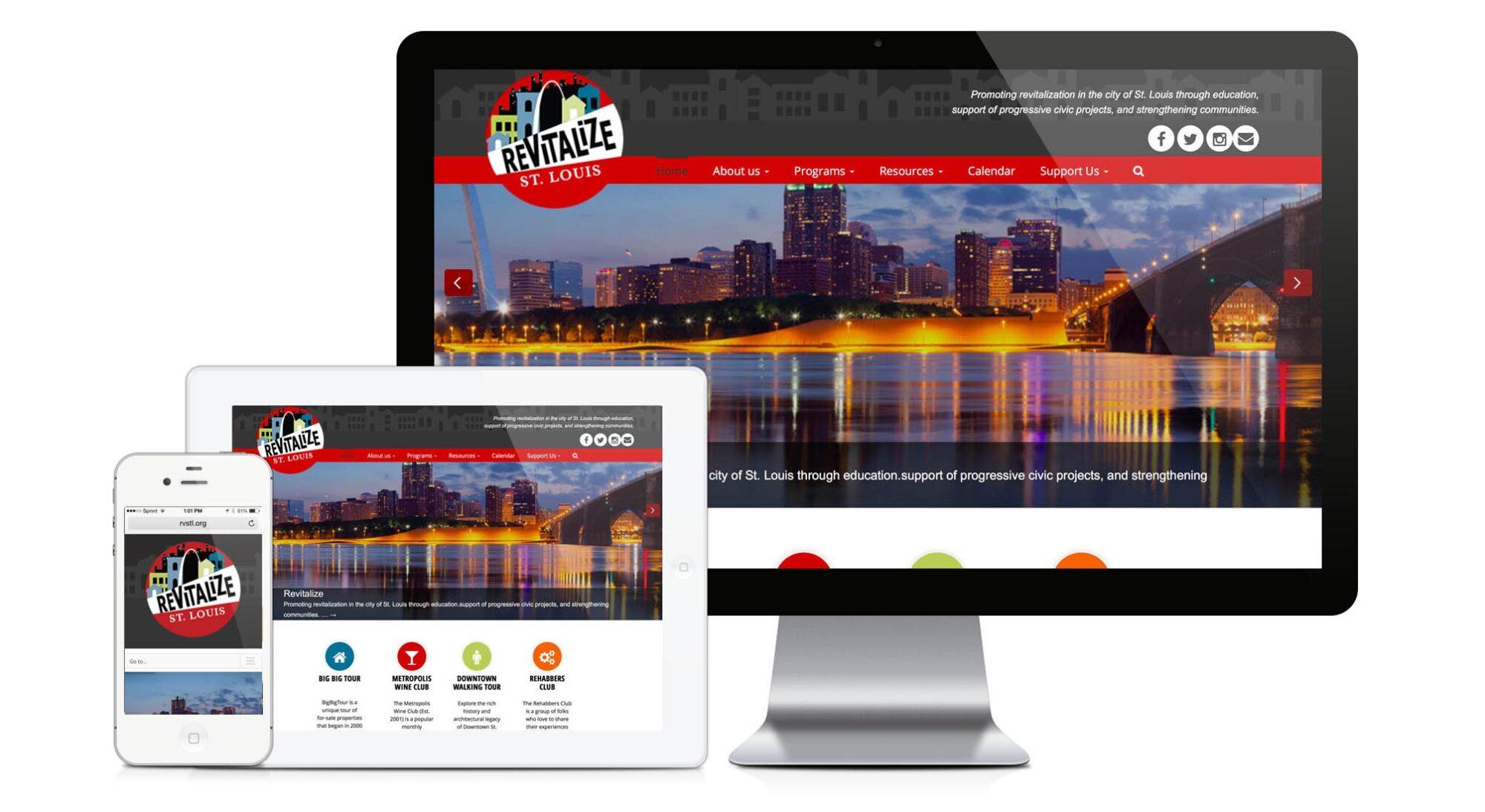 New Wordpress Website Design Development Revitalize St Louis Bauerhaus Design Inc