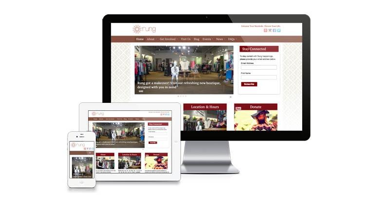 Rung Boutique St Louis Resale Store Website Email Redesign Bauerhaus Design Inc
