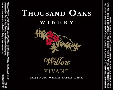 Wine label design for Willow