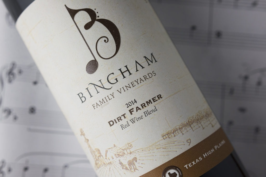 wine label design with music