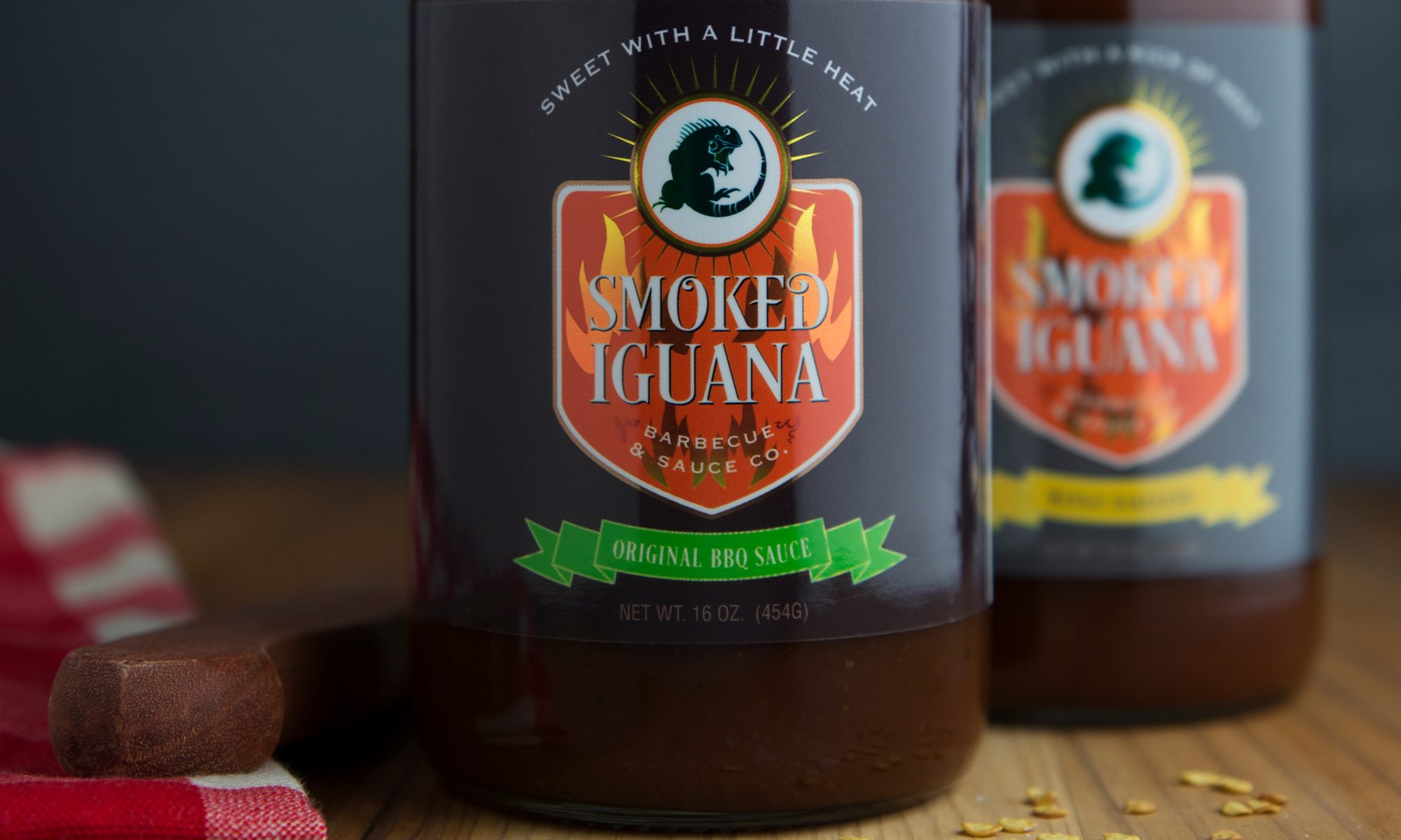food label design for barbeque sauce